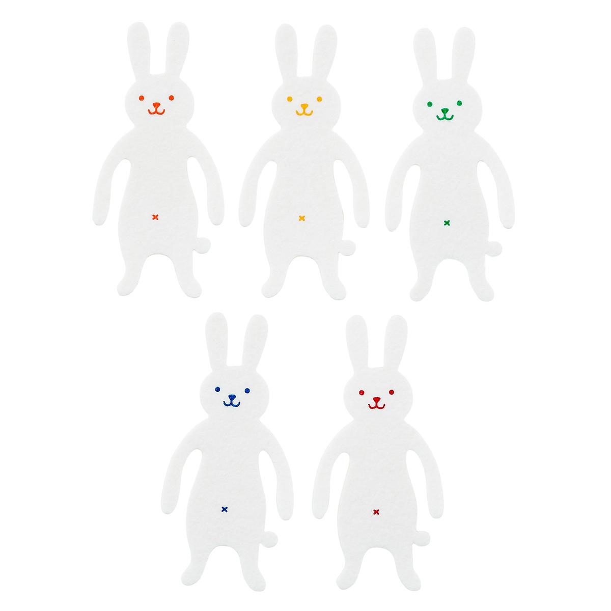 Rainbow Rabbit Pliable Paper Clips & Bookmarks