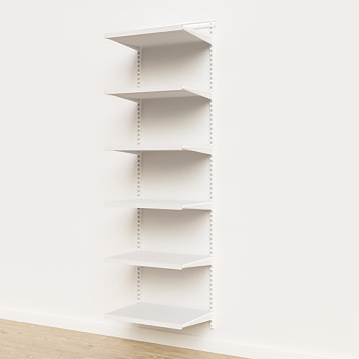 Elfa Décor 2' White Basic Shelving Units for Anywhere