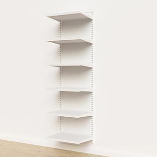 Elfa Décor 2' White Basic Shelving Units for Anywhere