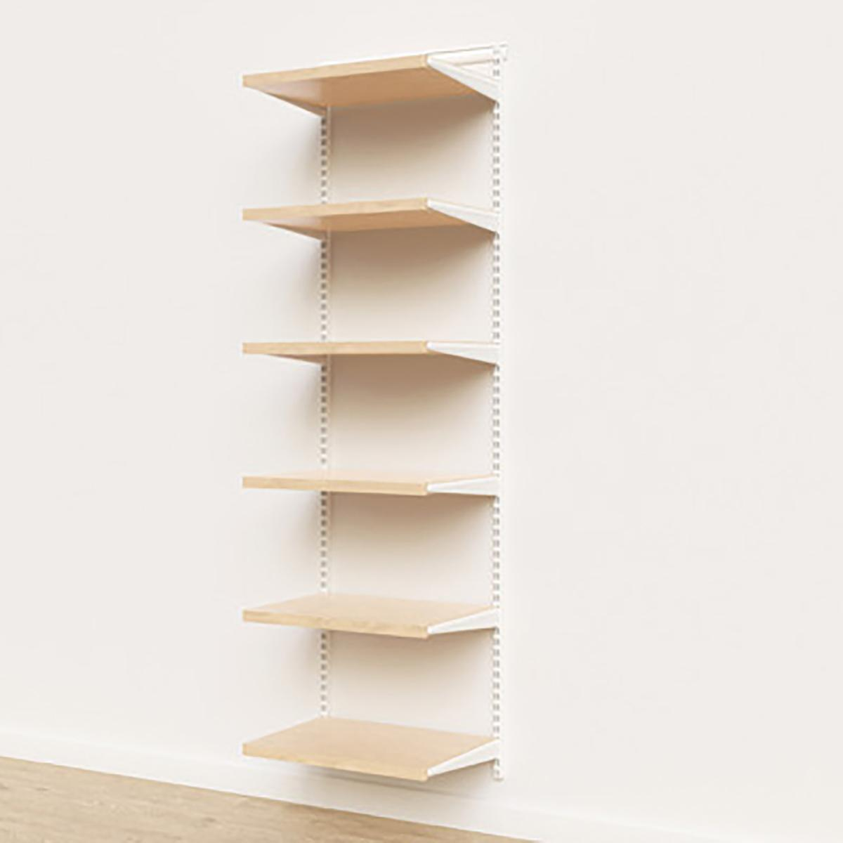 Elfa Décor 2' White & Birch Basic Shelving Units for Anywhere