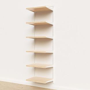 Elfa Décor 2' White & Birch Basic Shelving Units for Anywhere