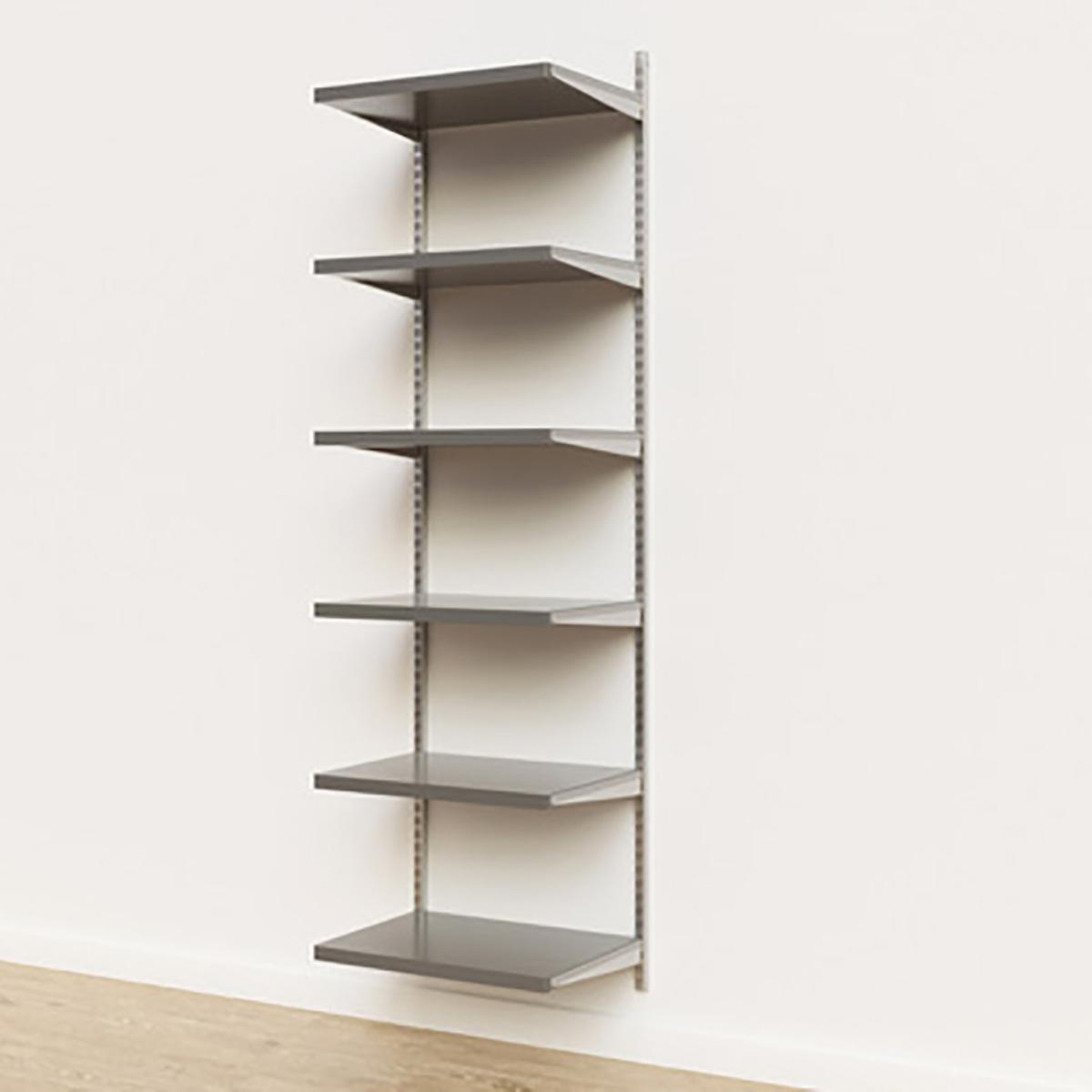 Elfa Décor 2'  Platinum & Grey Basic Shelving Units for Anywhere