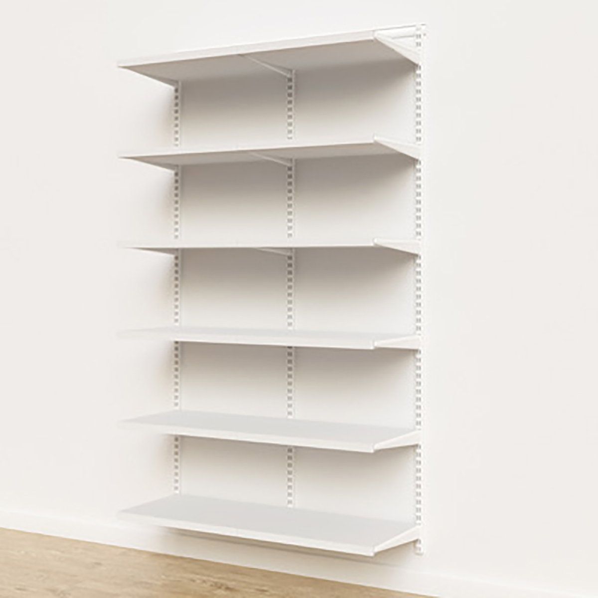 Elfa Décor 4' White Basic Shelving Units for Anywhere