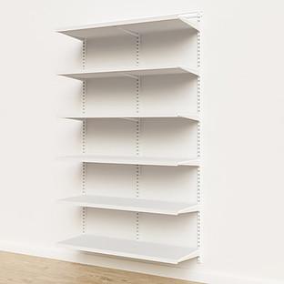 Elfa Décor 4' White Basic Shelving Units for Anywhere