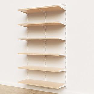 Elfa Décor 4' White & Birch Basic Shelving Units for Anywhere