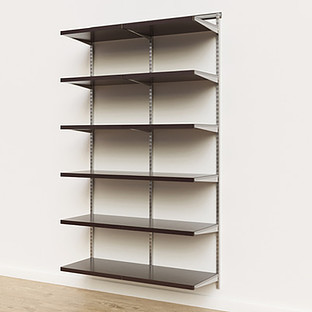 Elfa Décor 4' Platinum & Walnut Basic Shelving Units for Anywhere