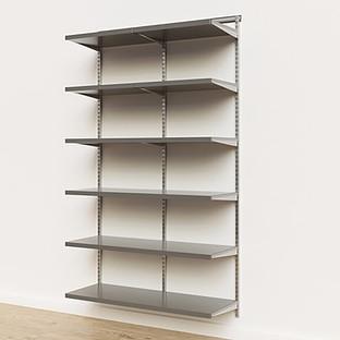 Elfa Décor 4' Platinum & Grey Basic Shelving Units for Anywhere