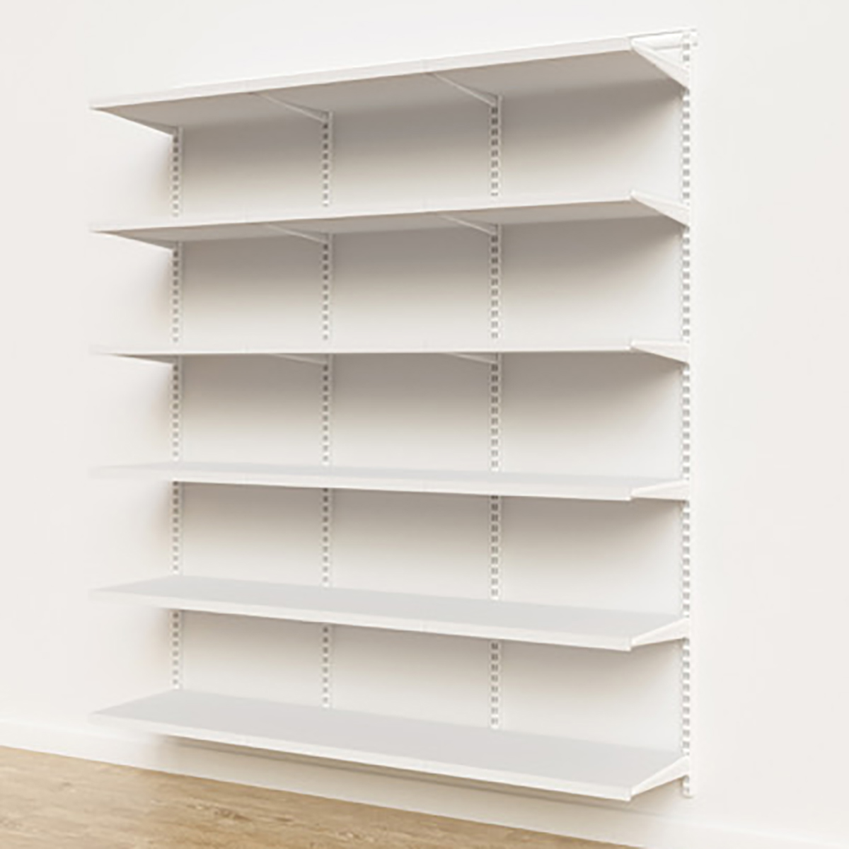 Elfa Décor 6' White Basic Shelving Units for Anywhere