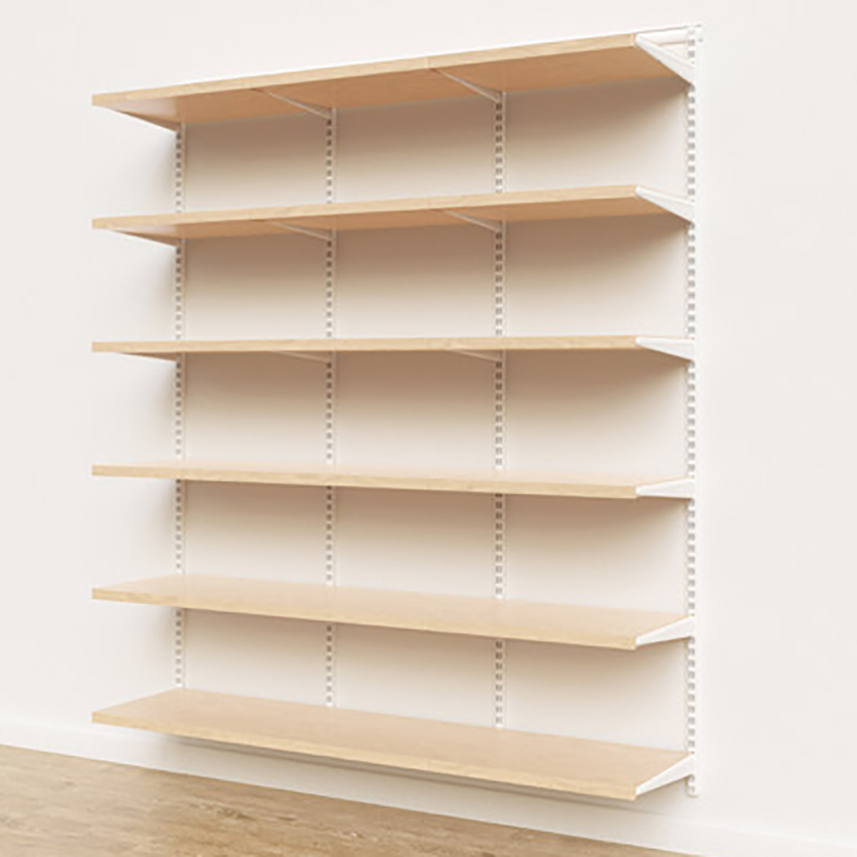 Elfa Décor 6' White & Birch Basic Shelving Units for Anywhere