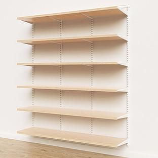 Elfa Décor 6' White & Birch Basic Shelving Units for Anywhere