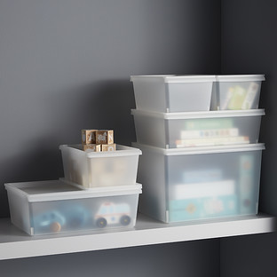 Clear Plastic Stacking Bins with Lids