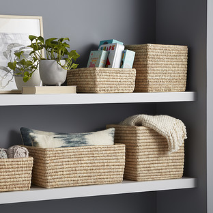 Hand-Woven Palm Leaf Baskets