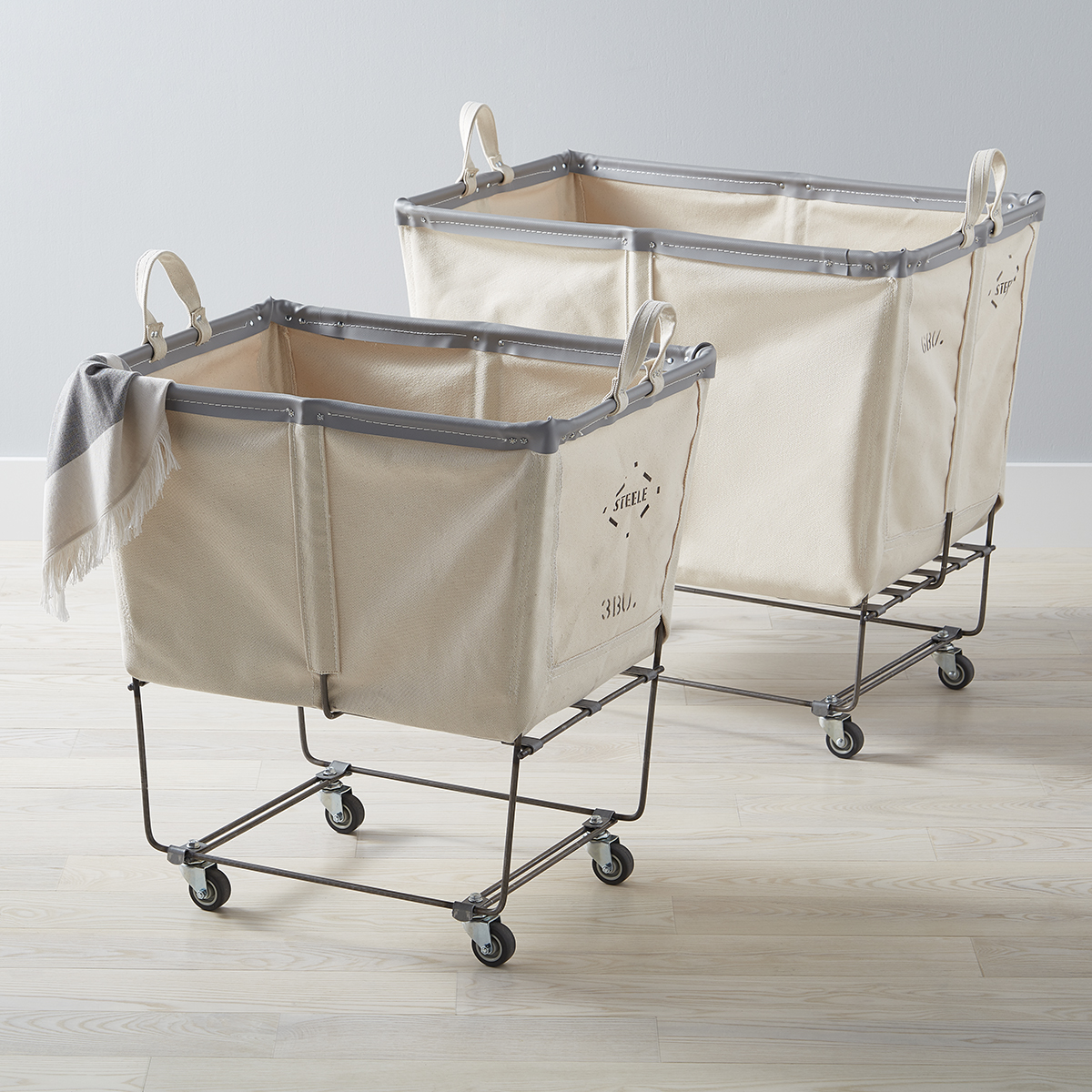 Steele Canvas Natural Laundry Cart