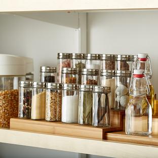 3-Tier Bamboo Expanding Spice Shelf