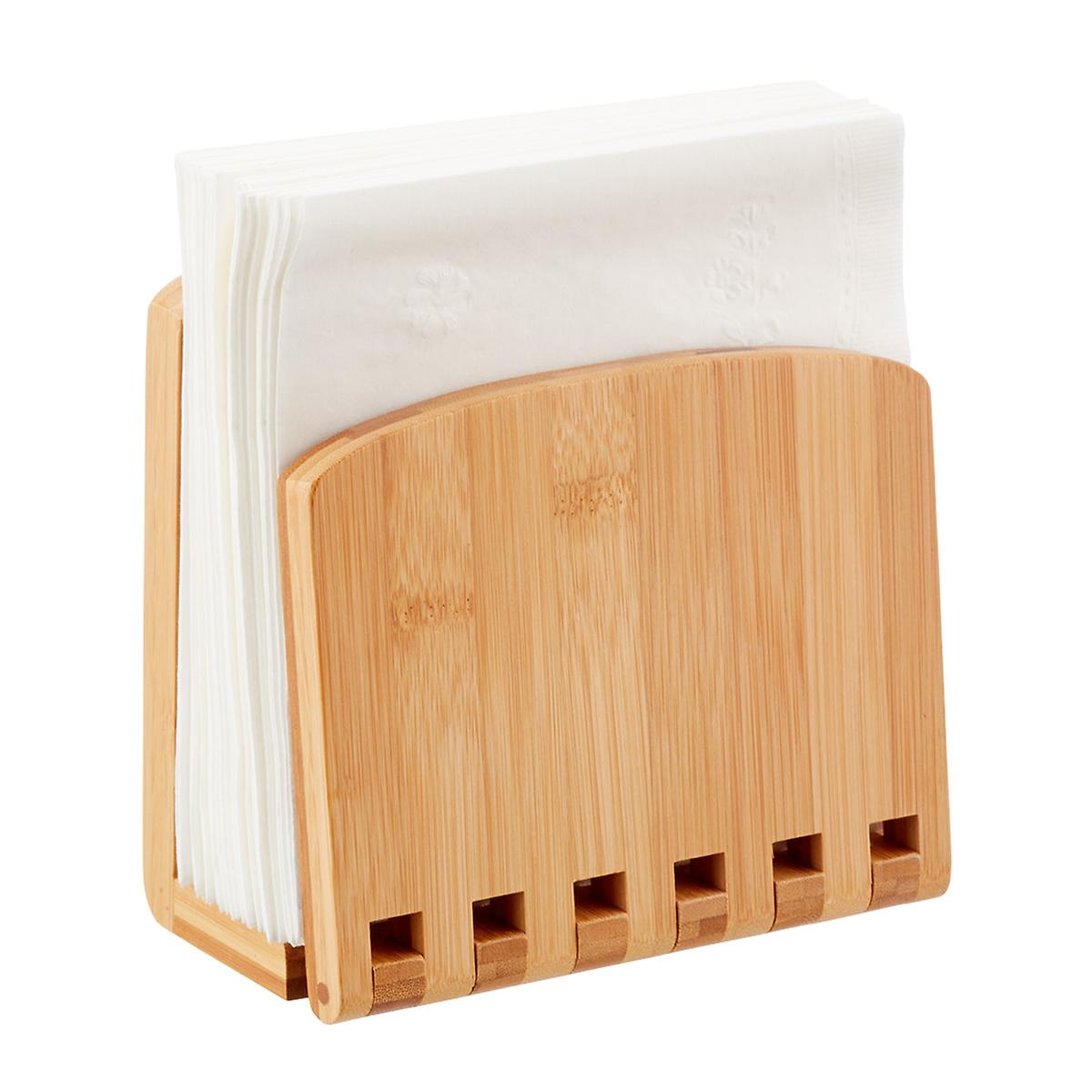 Adjustable Bamboo Napkin Holder