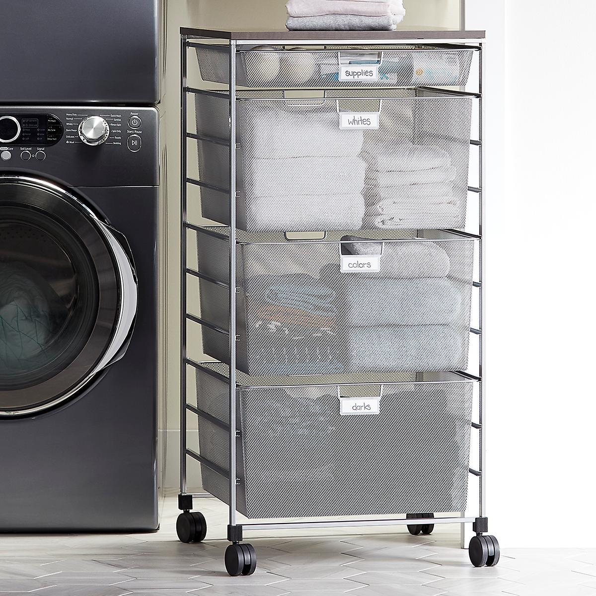Elfa Platinum Laundry Sorter Drawer Unit