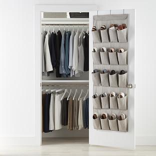 20-Pocket Eco-Fabric Over the Door Shoe Bag