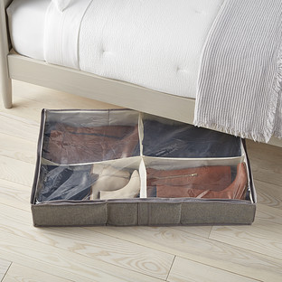 4-Compartment Under Bed Boot Organizer