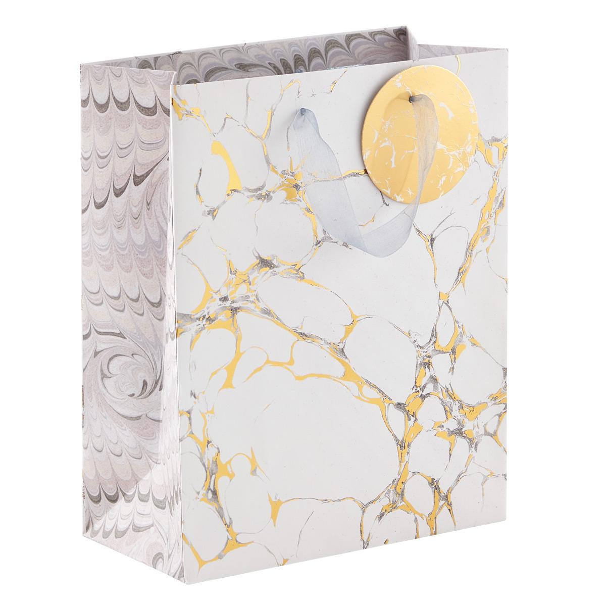 Medium Gold Marble Gift Bag