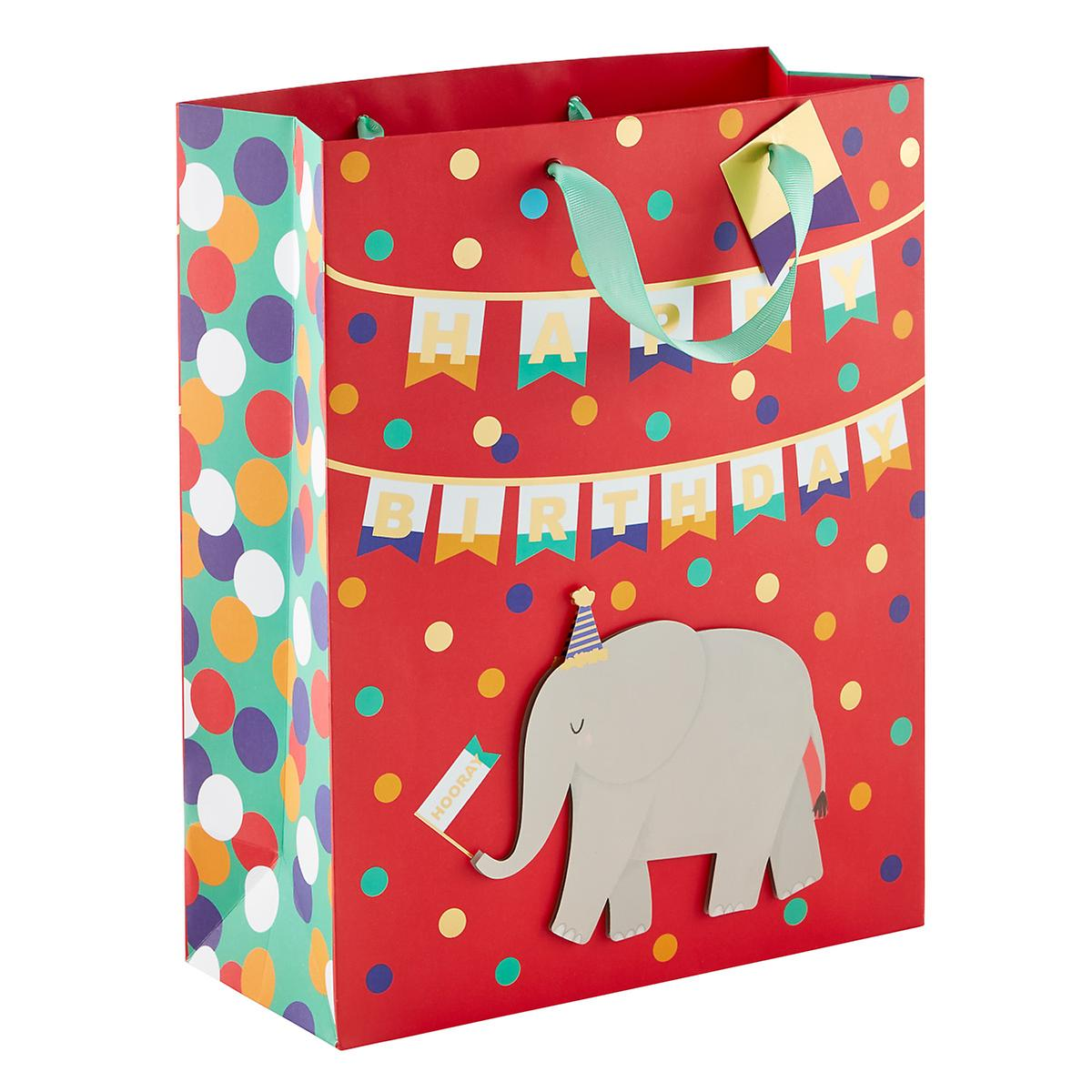 Large Birthday Elephant Gift Bag