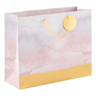 Large Gold Dip Marble Gift Bag