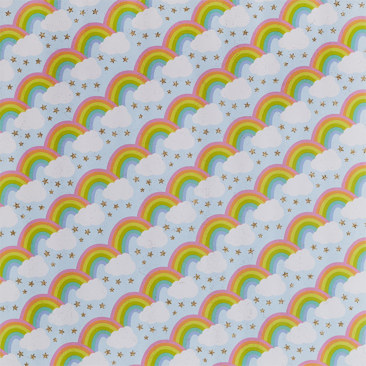 Rainbow & Stars Wrapping Paper