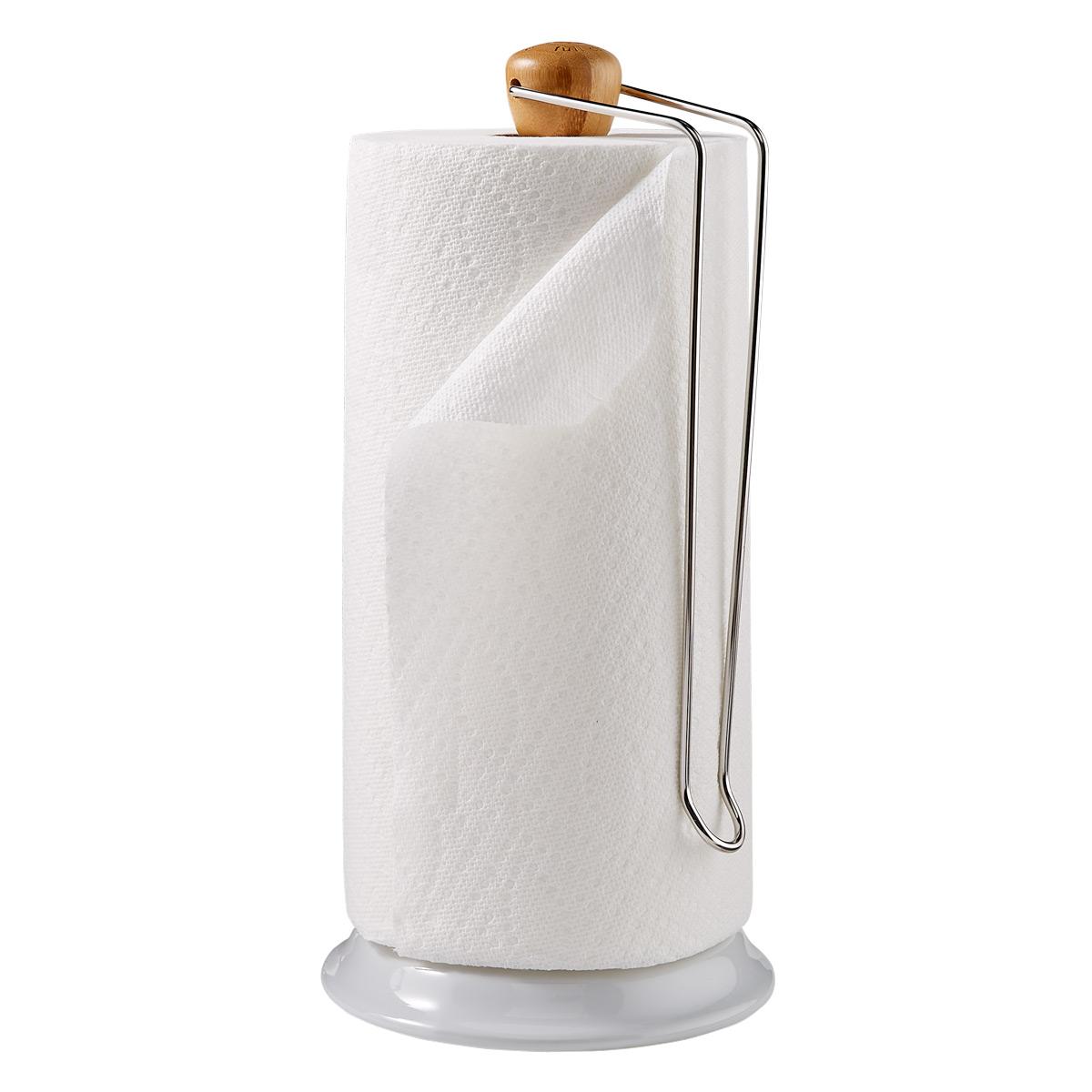Full Circle Bamboo & Silver Paper Towel Holder