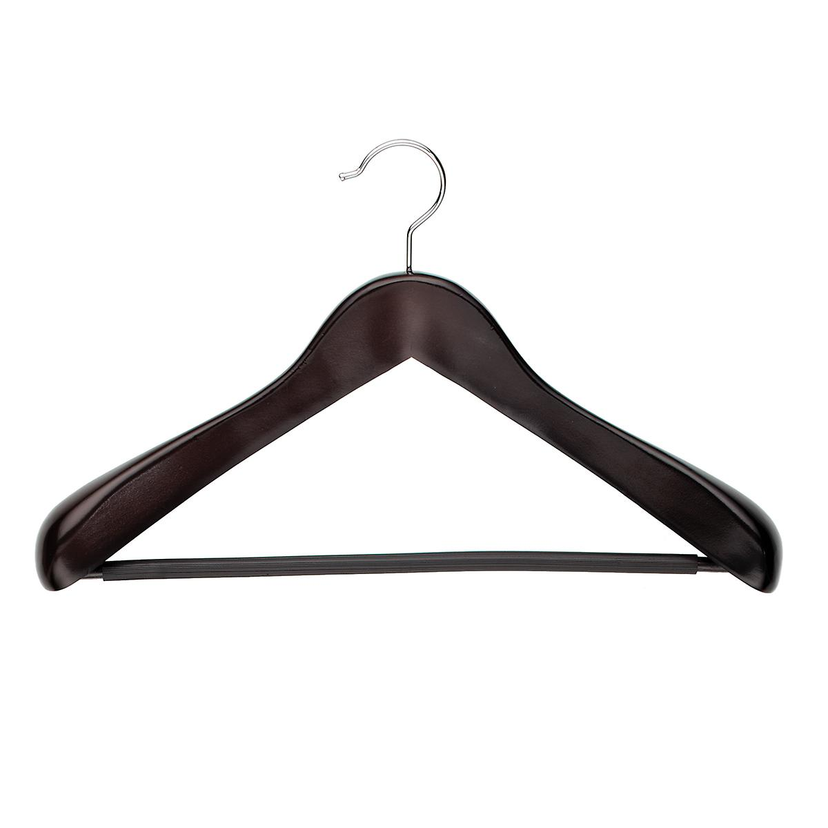 Oversized Walnut Wooden Coat & Suit Hanger