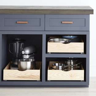 Ash Wood Roll-Out Cabinet Drawers