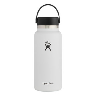 White 32 oz. Wide Mouth Hydro Flask