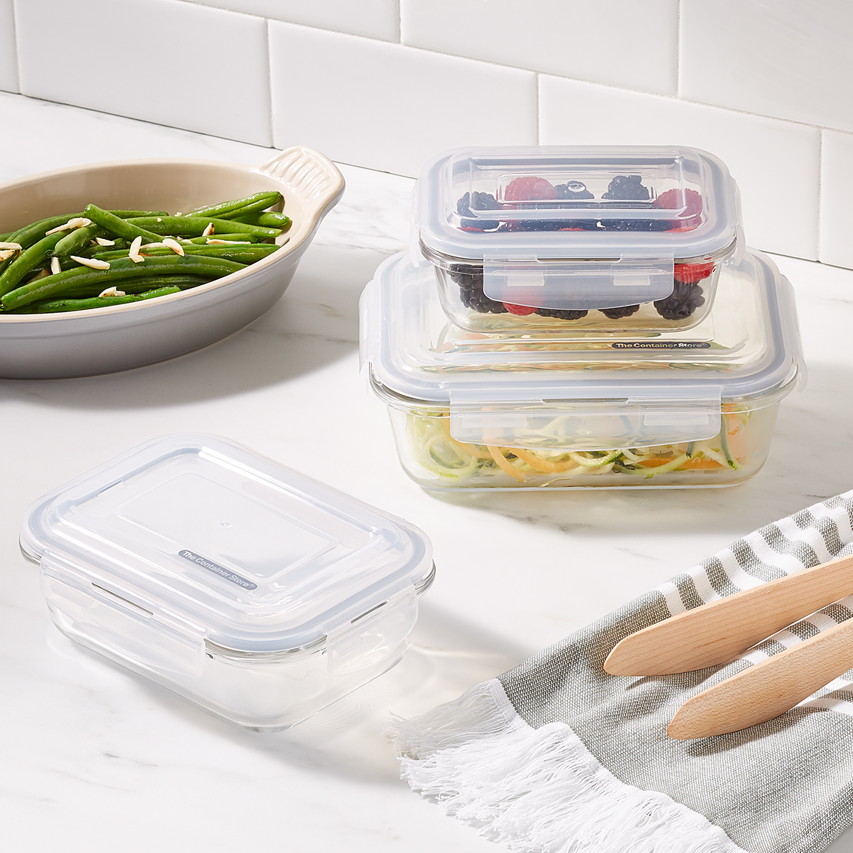 Borosilicate Glass Rectangular Food Storage