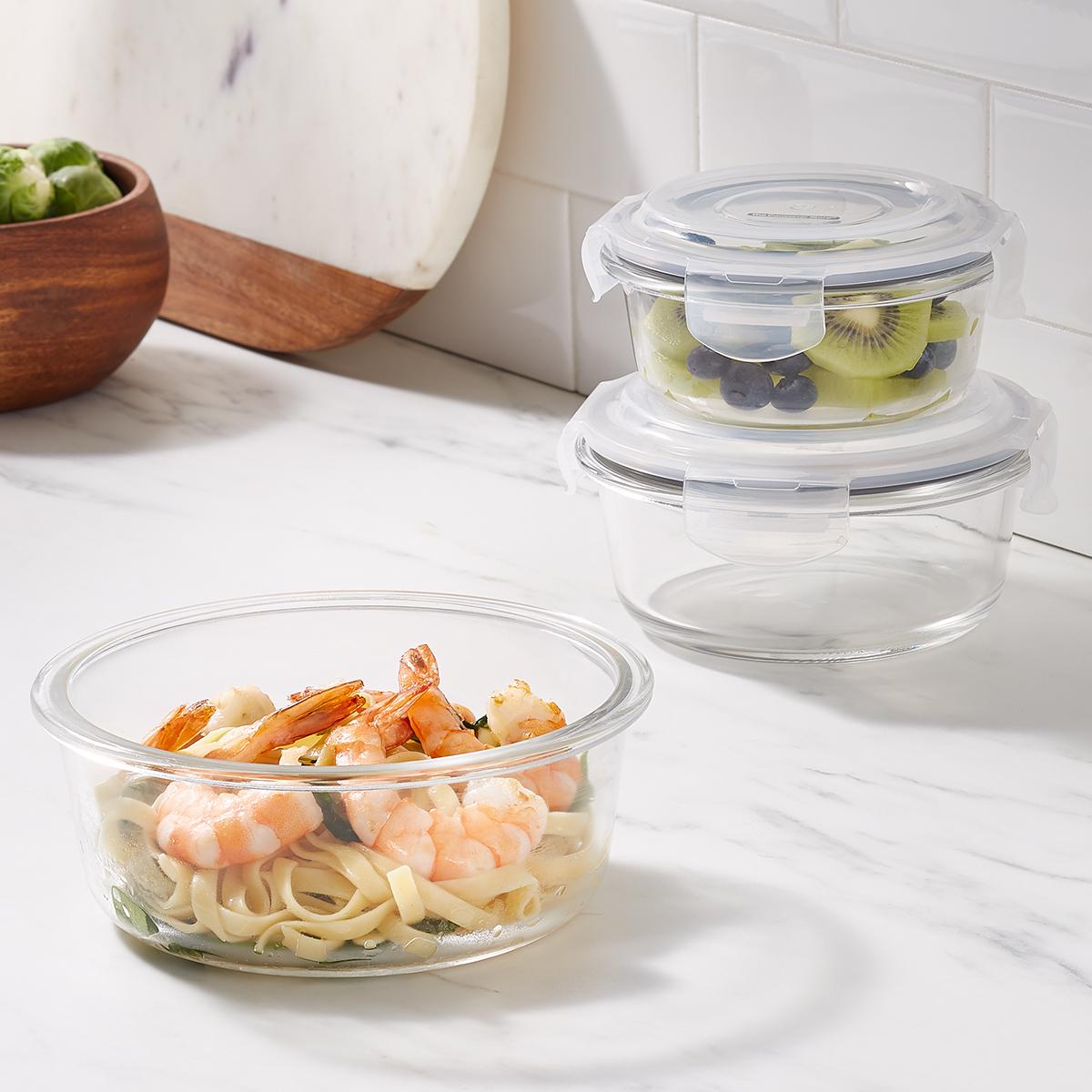 Borosilicate Glass Round Food Storage
