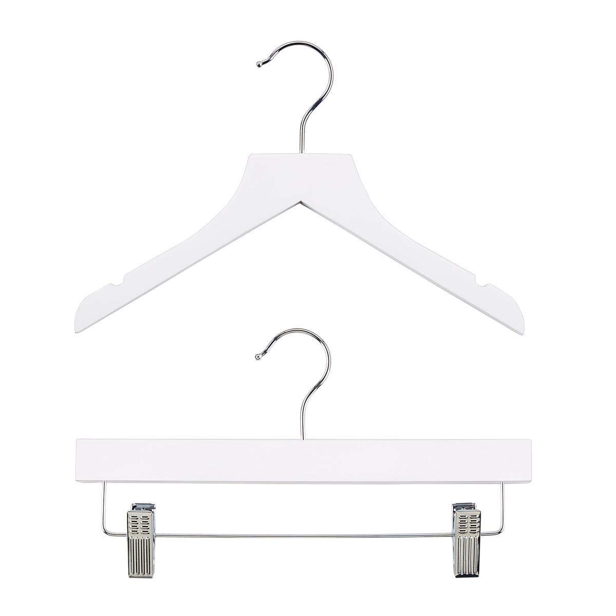 Kid's White Wood Shirt Hangers