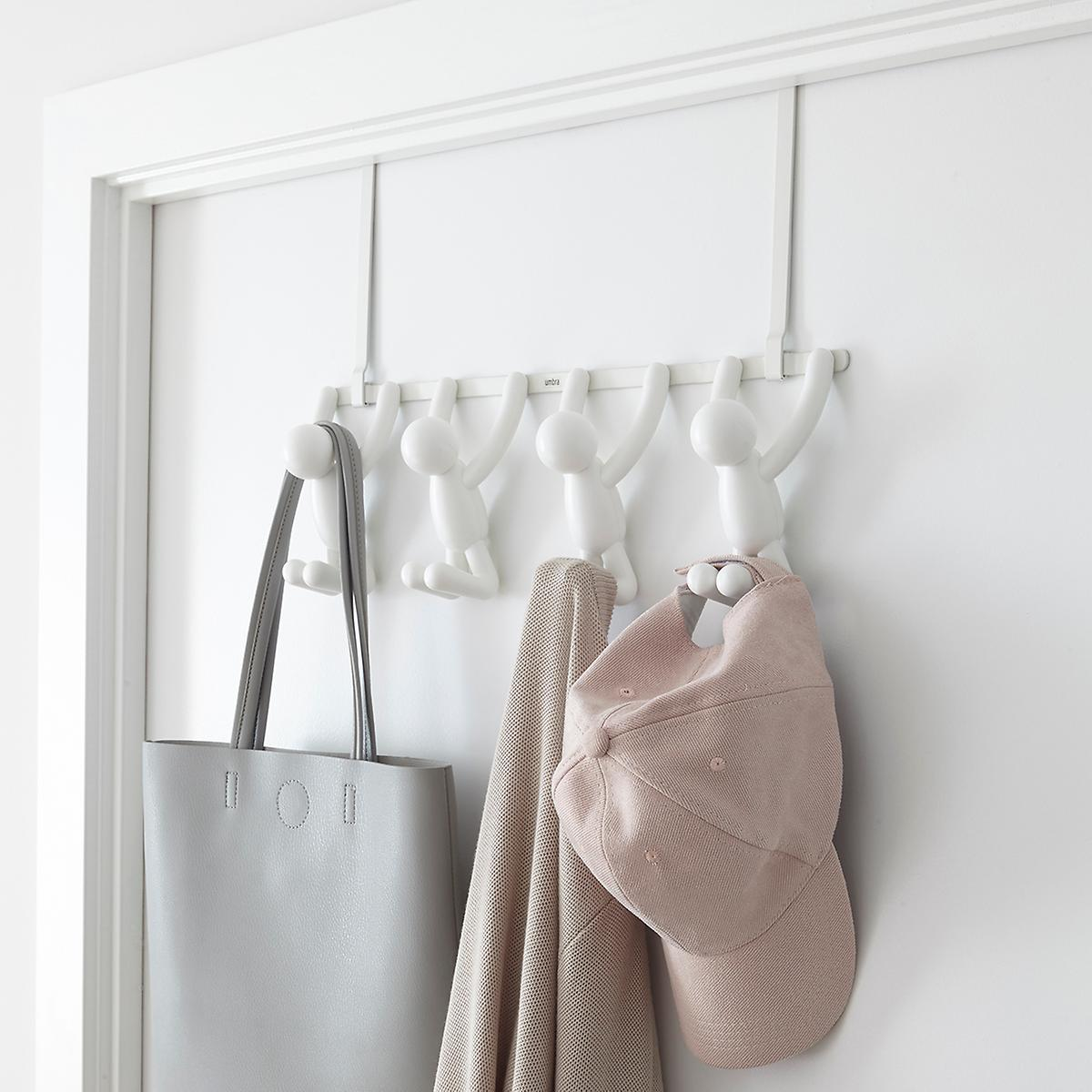 Umbra White Buddy Over the Door Hook Rack