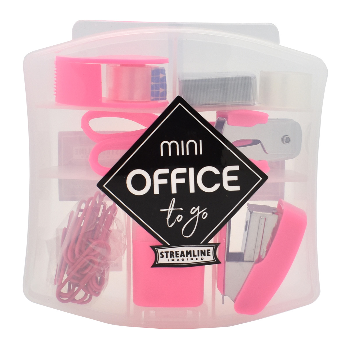 Pink Mini Office Toolbox