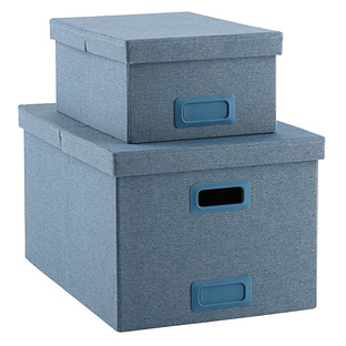 Slate Blue Poppin Storage Boxes