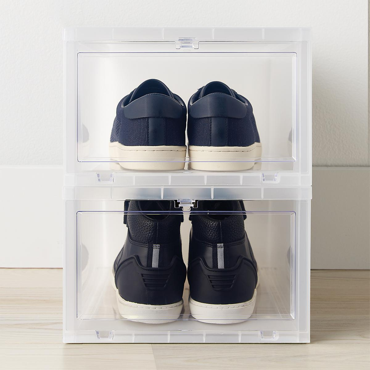 Large Drop-Front Shoe Box
