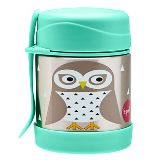 3 Sprouts Snow Owl Insulated Food Jar