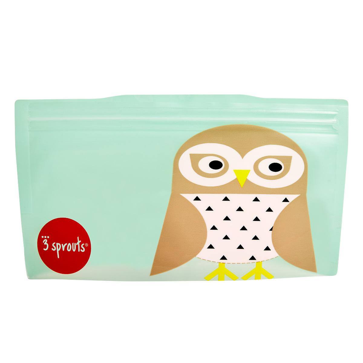 3 Sprouts Snow Owl Snack & Sandwich Bags