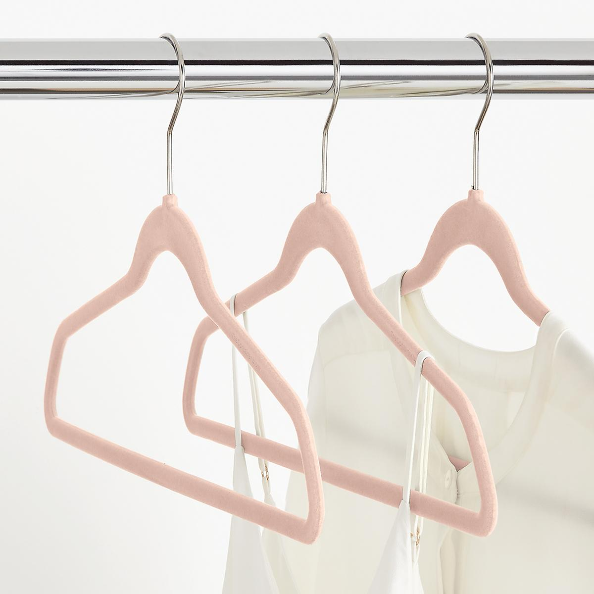 Blush Premium Non-Slip Velvet Suit Hangers Case of 40