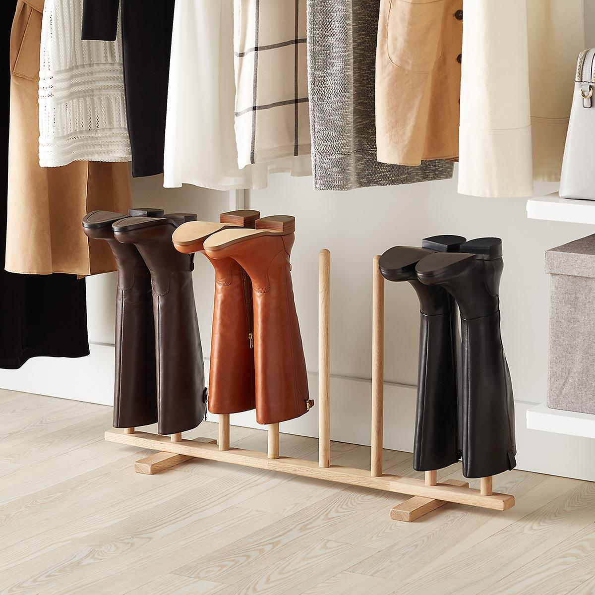 4-Pair Natural Boot Rack