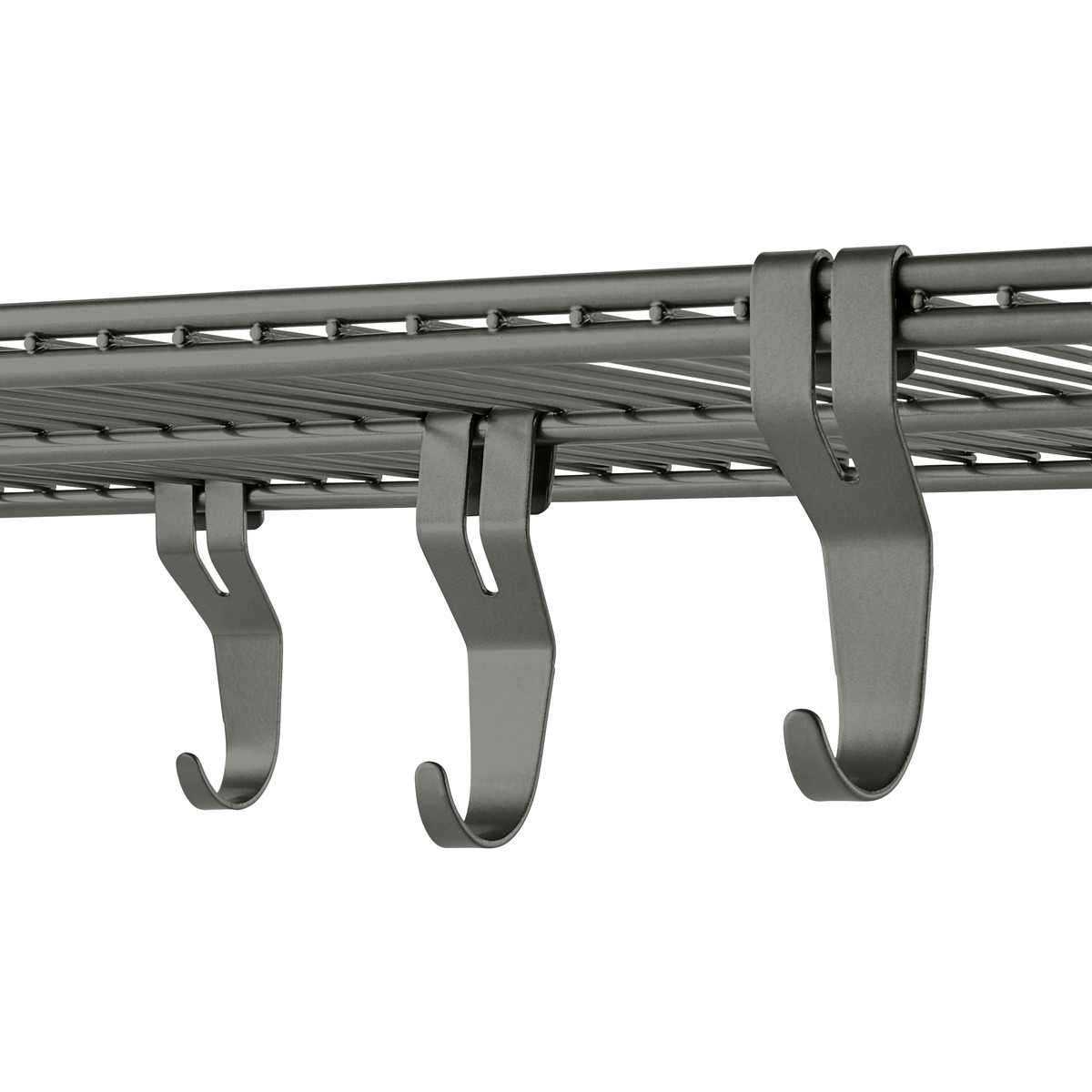 Graphite Elfa Shelf Hooks