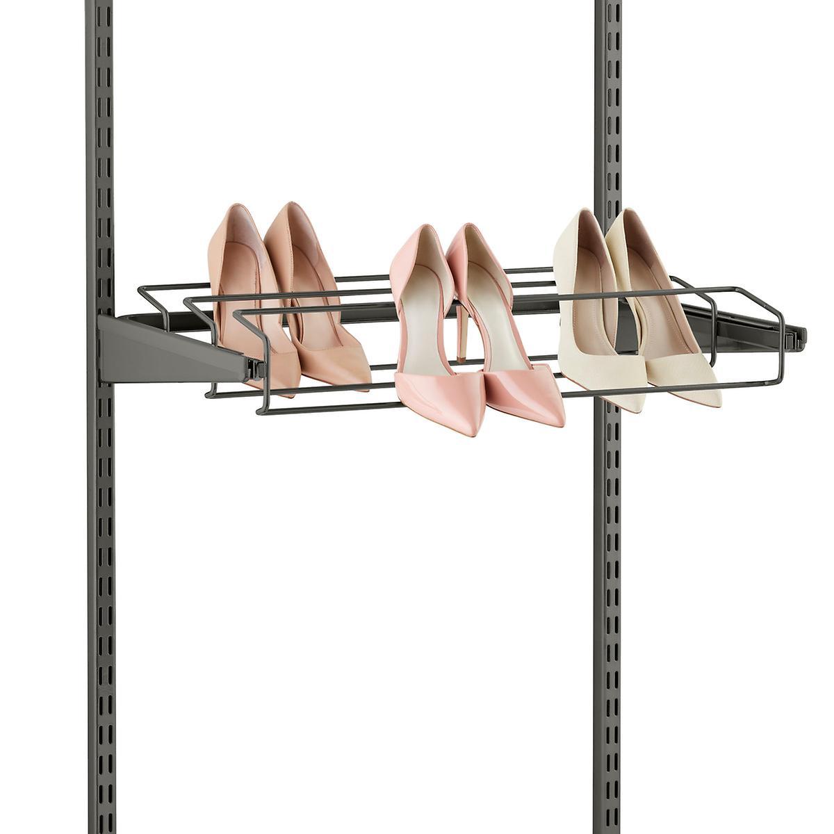 Graphite Elfa Gliding Shoe Racks