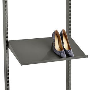 Graphite Elfa Angled Solid Metal Shelves