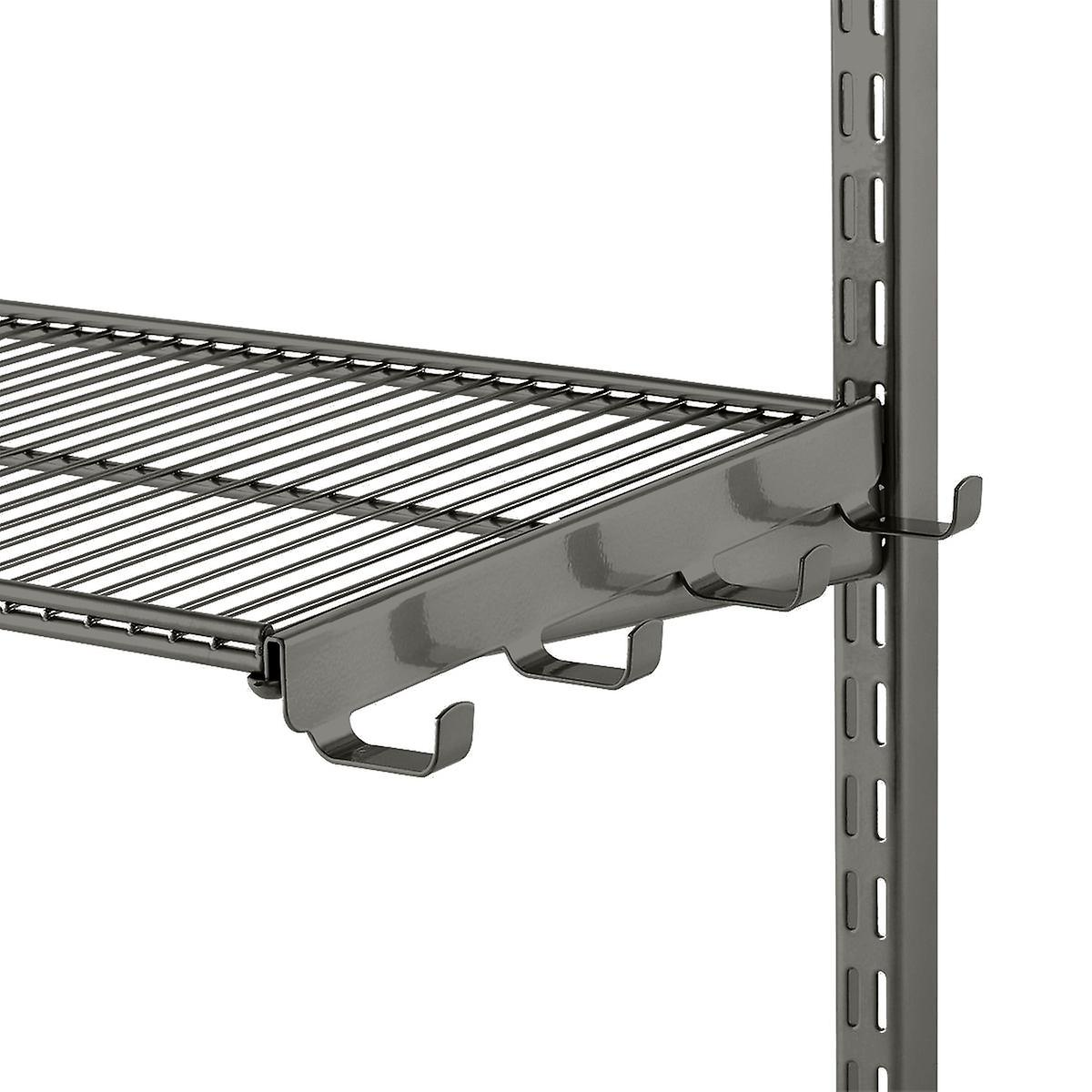 Graphite Elfa Ventilated Wire Shelf Bracket Hooks