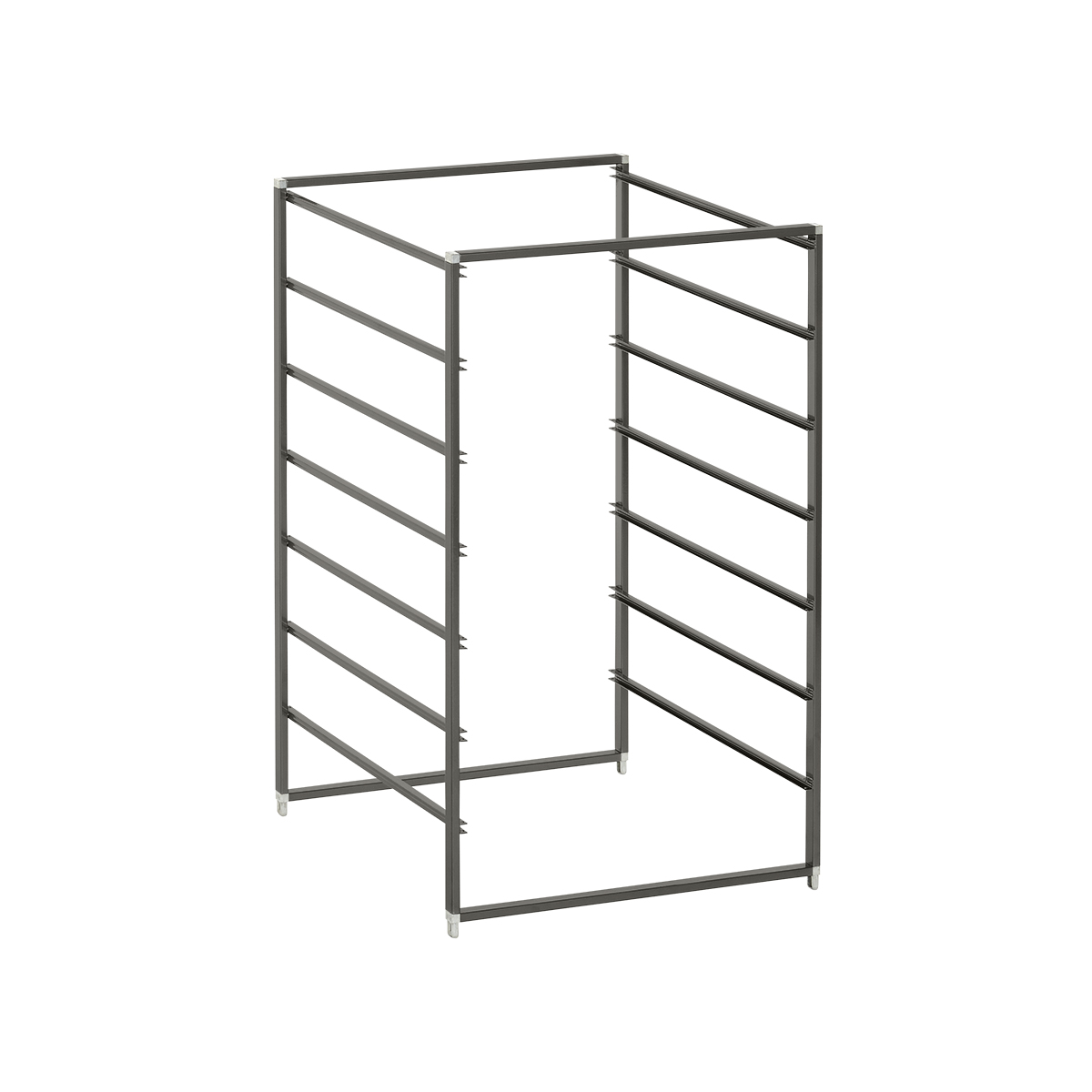 Graphite Elfa Drawer Frames