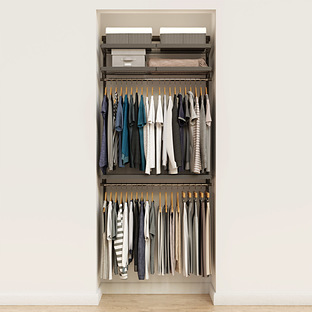 Elfa Décor 3' Graphite & Grey Reach-In Closet