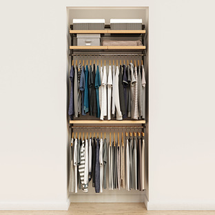 Elfa Décor 3' Graphite & Birch Reach-In Closet