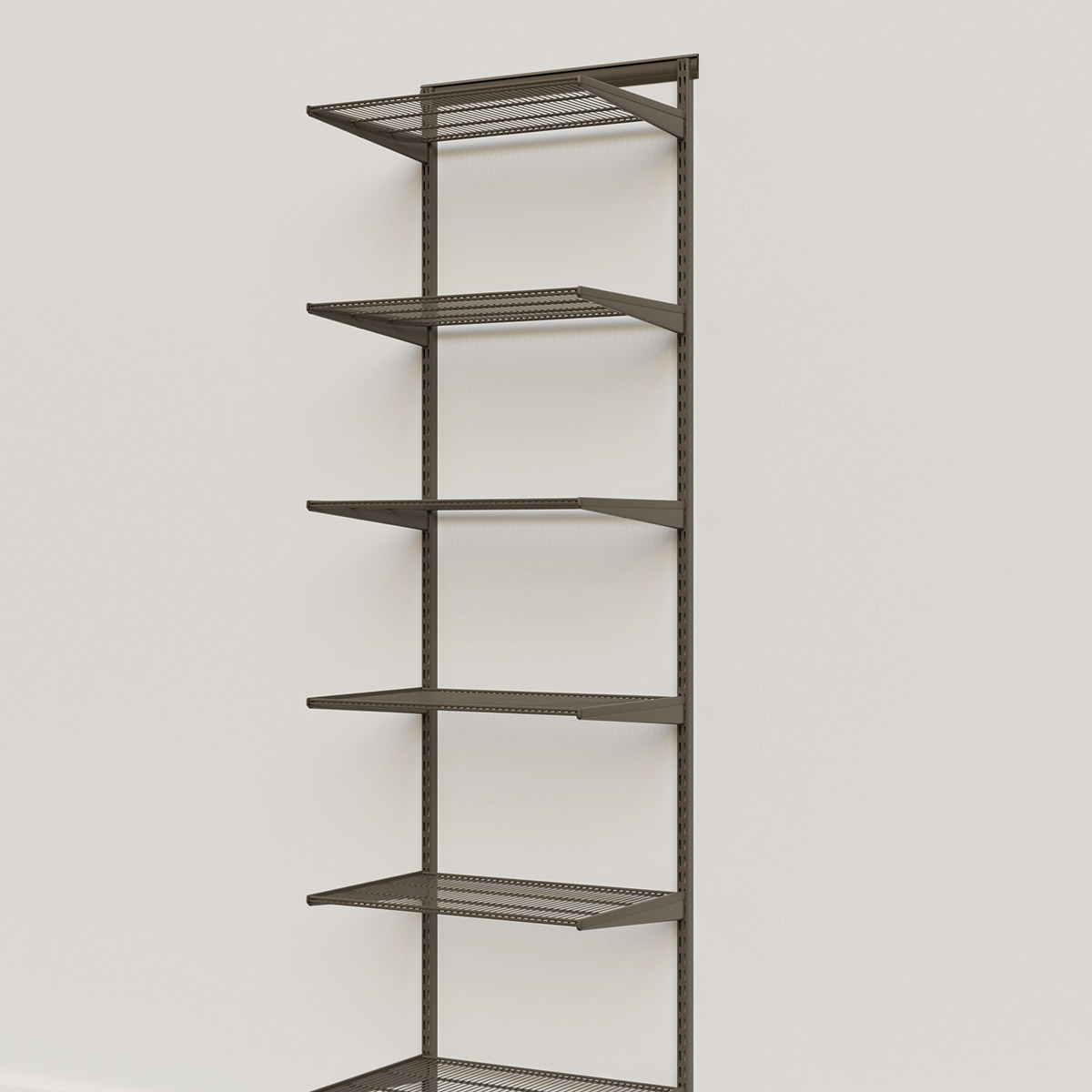 Elfa Classic Graphite 2' Basic Shelving Units for Anywhere