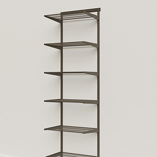 Elfa Classic Graphite 2' Basic Shelving Units for Anywhere